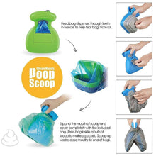 Load image into Gallery viewer, Foldable Pooper Scooper With 1 Roll Decomposable Bags - Paws & Pose
