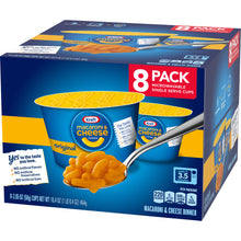 Load image into Gallery viewer, (2 Pack) Kraft Original Flavor Macaroni & Cheese Dinner 8-2.05 oz. Cups