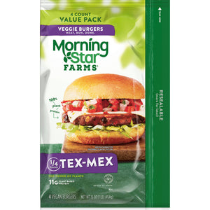 MorningStar Farms, Veggie Burgers, Tex Mex, Value Pack, 16 Oz