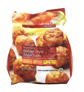 Signature Kitchens Fully Cooked Traditional Beef And Pork Meatballs With Italian Style Seasonings 24 oz