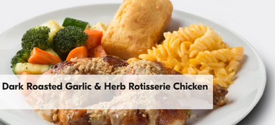 3 Piece Dark Roasted Garlic & Herb Rotisserie Chicken
