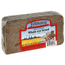 Load image into Gallery viewer, Feldkamp German Whole Rye Bread, 16.75 oz, (Pack of 12)
