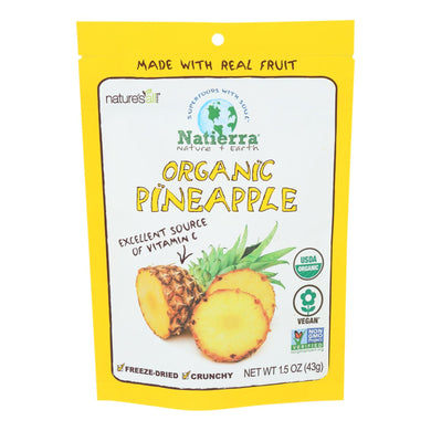 Natierra Nature's All Foods Organic Freeze-Dried Pineapples 1.5oz