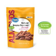 Load image into Gallery viewer, Great Value Smoked Flavored Whole Almonds, 14 oz