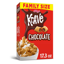 Load image into Gallery viewer, Kellogg's Krave, Breakfast Cereal, Chocolate, Family Size, 17.3 Oz