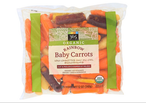 365 Everyday Value, Organic Rainbow Baby Carrots, 12 oz