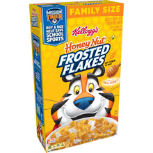 Load image into Gallery viewer, Kellogg's Frosted Flakes, Breakfast Cereal, Honey Nut, Family Size, 24.5 Oz