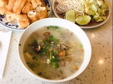 Load image into Gallery viewer, Cháo  Lòng Pork intestine porridge with Vietnamese cruller/ doughnut.
