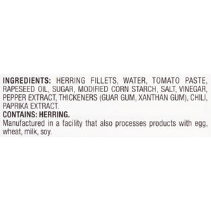 Pampa Herring Fillets in Hot Tomato Sauce, 6 oz Can