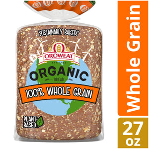 Oroweat Organic 100% Whole Grain Bread, Non-GMO Organic Bread, 27 oz