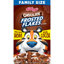 Load image into Gallery viewer, Kellogg's Frosted Flakes, Breakfast Cereal, Chocolate, Family Size, 24.7 Oz