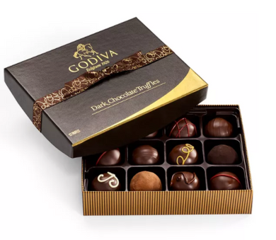 Chocolatier 12-Pc. Dark Chocolate Truffles Gift Box