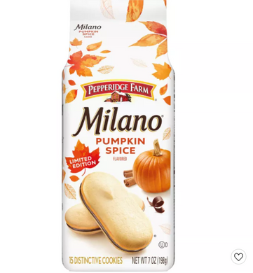Milano Pumpkin Spice Flavored Cookies - 7oz