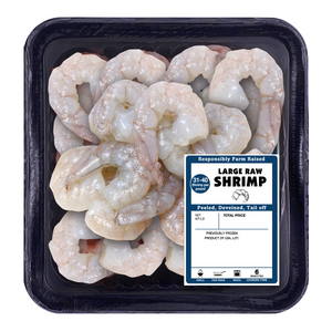 Large Raw Shrimp Size 31/40, Tail Off Peeled And Deveined, 10 oz