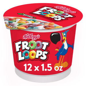 Kellogg's Froot Loops, Breakfast Cereal in a Cup, Original, Bulk Size, 2 Ct, 18.0 Oz