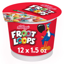 Load image into Gallery viewer, Kellogg's Froot Loops, Breakfast Cereal in a Cup, Original, Bulk Size, 2 Ct, 18.0 Oz