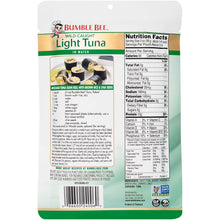 Load image into Gallery viewer, BUMBLE BEE Premium Light Tuna In Water Pouches, Tuna Fish Pouch, High Protein Food, Keto Food and Snacks, Gluten Free Food, High Protein Snacks, Bulk Tuna Pouches, 5 Ounce (Pack of 12)