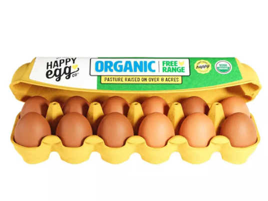 Happy Egg Co. Organic Large Grade A Eggs - 12ct