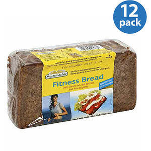 Mestemacher Fitness Bread, 17.6 Oz, (Pack of 12)