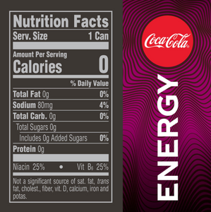 Coca-Cola Energy Zero Sugar Cherry (12oz / 24pk)