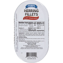 Load image into Gallery viewer, Pampa Herring Fillets in Hot Tomato Sauce, 6 oz Can