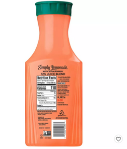 Simply Lemonade with Strawberry Juice - 52 fl oz