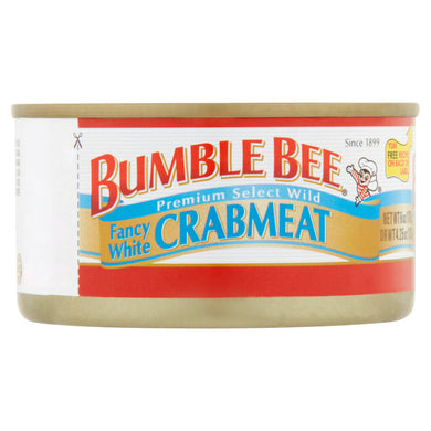 (3 Pack) Bumble Bee Fancy White Crab Meat, 6 oz Can