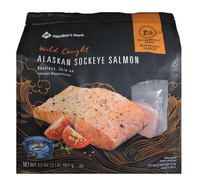 Wild Caught Alaskan Sockeye Salmon, Frozen (2 lbs.)