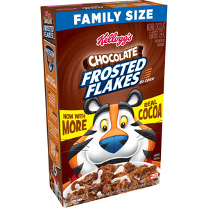 Kellogg's Frosted Flakes, Breakfast Cereal, Chocolate, Family Size, 24.7 Oz