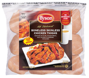 Tyson® Boneless Skinless Chicken Thighs, 2.5 lb. (Frozen)