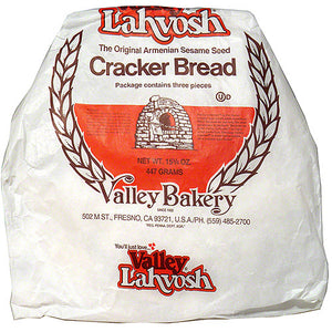 Valley Lahvosh Original Armenian Sesame Seed Crackerbread, 15.75 oz (Pack of 7)