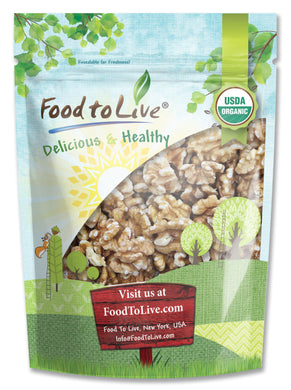 Food To Live ® Organic Walnuts (Raw, No Shell) (8 Ounces)