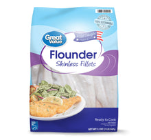 Load image into Gallery viewer, Great Value Frozen Flounder Fillets,2lb
