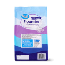 Load image into Gallery viewer, Great Value Frozen Flounder Fillets, 1 lb