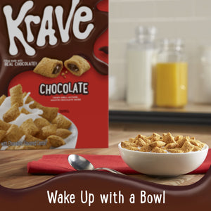 Kellogg's Krave, Breakfast Cereal, Chocolate, Family Size, 17.3 Oz