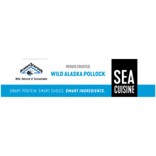 Load image into Gallery viewer, Sea Cuisine® Potato Crusted Wild Alaska Pollock Fillets 2 ct Box