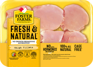 Foster Farms Boneless Skinless Chicken Thighs, 1.4 - 2.2 lbs