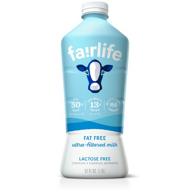 Fairlife Milk Lactose Free Fat Free Skim Milk 52 fl oz