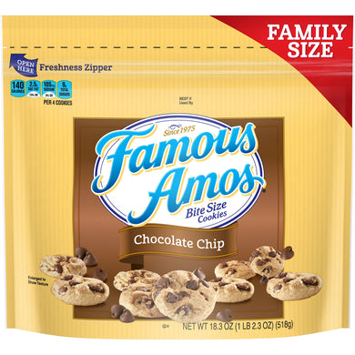 Famous Amos Chocolate Chip Cookies, Family Size, 18.3oz