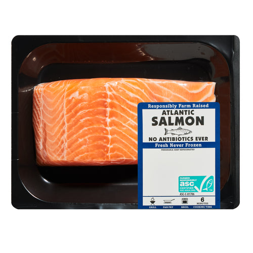 Fresh Antibiotic-Free Atlantic Salmon Portion, 0.7 – 1.0 lb