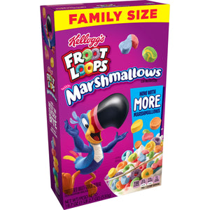 Kellogg's Froot Loops, Breakfast Cereal, Original with Marshmallows, Family Size, 18.7 Oz