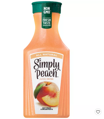 Simply Peach All Natural Juice Drink - 52 fl oz