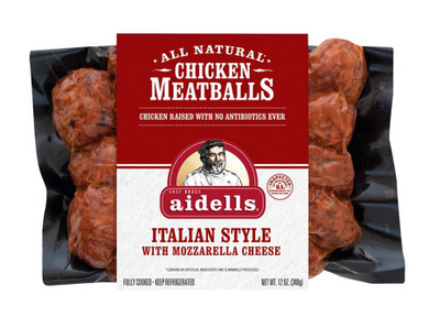 Aidells Chicken Meatballs Italian Style With Mozzarella Cheese 12 oz