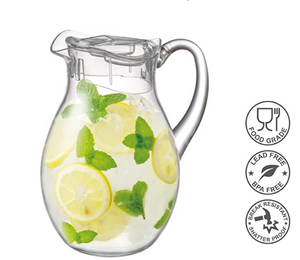 Acrylic Pitcher (78 oz, 2.2 qt), BPA-Free and Shatter-Proof, Great for Iced Tea, Sangria, Lemonade, and More