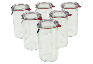 1/4L Cylindrical Jar Set of Six - 11.5 Ounce