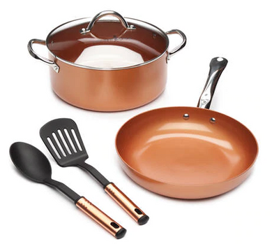 Copper Chef™ 5 Piece Cookware Set  Color: :Copper