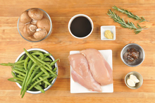 Load image into Gallery viewer, Balsamic and Fig-Glazed Chicken Breast with rosemary mushrooms and green beans