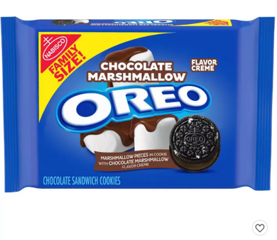 Chocolate Marshmallow Oreo Family Size - 17oz