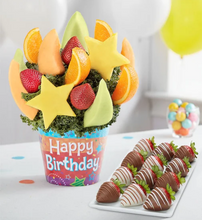 Load image into Gallery viewer, Celebrate the Day Fruit Arrangement™ with Chocolates