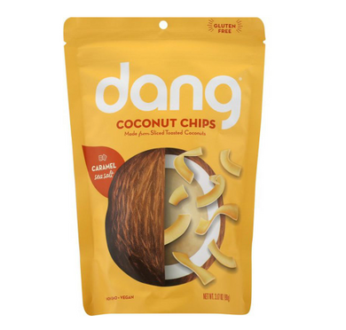 Dang Coconut Chips, Sea Salt, Caramel 3.17 oz